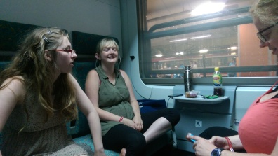 Sitting in our compartment