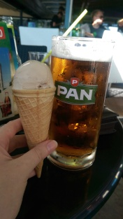 Ice cream and beer!