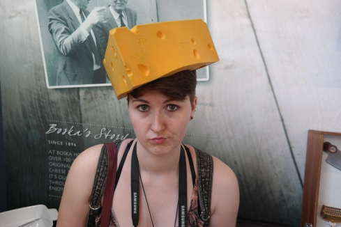 In the cheese museum