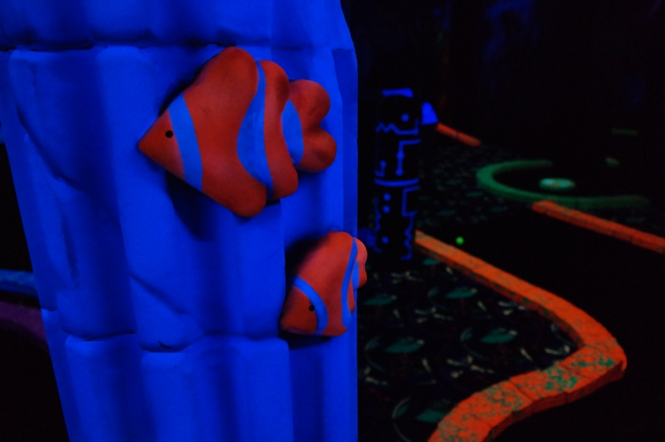 Some of the pretty glow golf statues