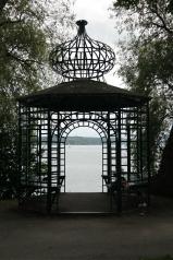 Pretty lake gazebo