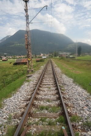 The rail line on the way to Eckbauer