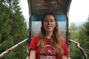 Becky on the gondola