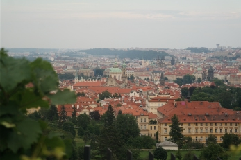 The view down to Prague