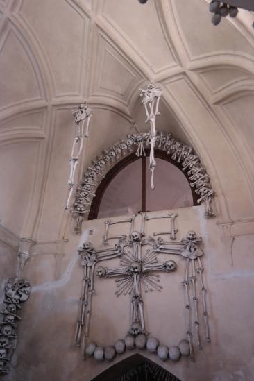 Bone cross in the entrance