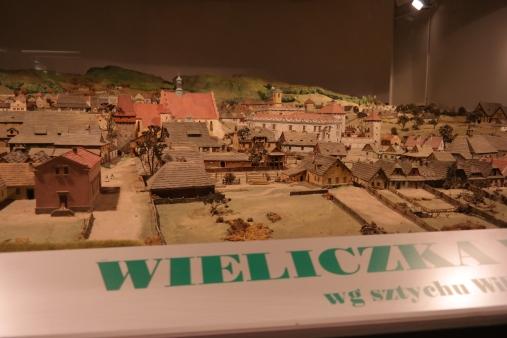 A model of Wieliczka in the museum