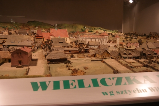 A model of Wieliczka in the museum