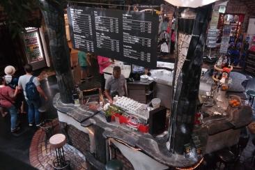 A bar in the Hundertwasser village