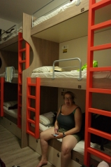 Triple bunk beds!