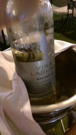 Wine at dinner!