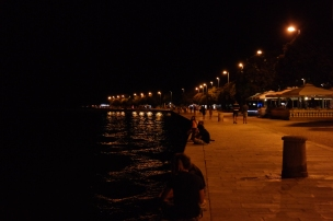 The seafront at night