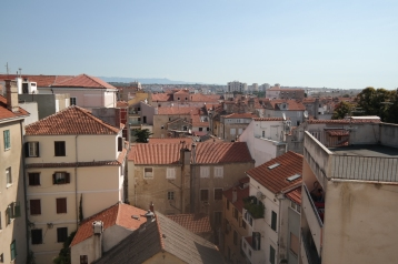 The view from our Zadar hostel