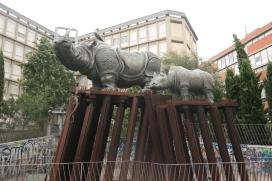 Statue of Rhinos