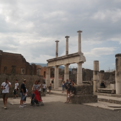 Columns near the entrance