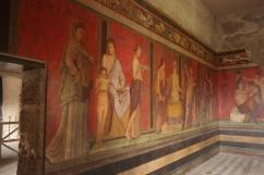 A fresco in the Villa of Mysteries