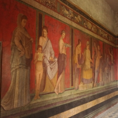 A fresco in the Villa of Mysteries