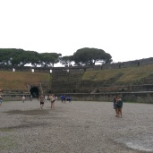 In the amphitheatre
