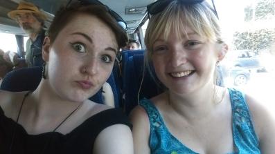 On the bus up Vesuvius!