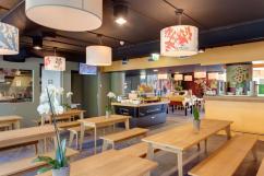 The bar/ breakfast area