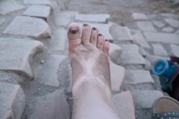 Dusty foot