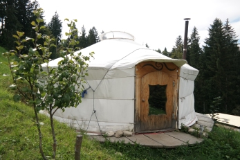 The yurt I stayed in