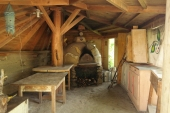The wood burning pizza oven