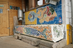 The drinking fountain