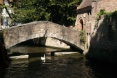 The smallest bridge in Bruges