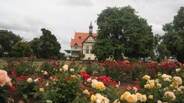 The rose garden and museum