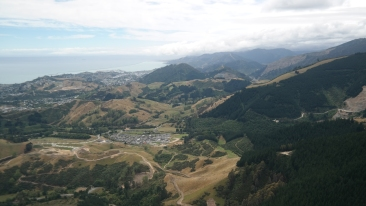 View to Nelson while Paragliding