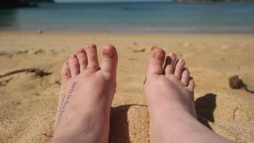 Resting my tired feet
