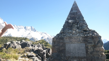 A memorial to climbers who died in the mounatins
