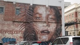 Really cool woman mural