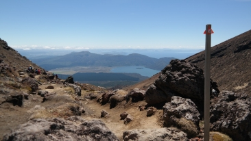 View to Taupo with long white clouds