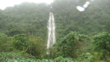 The temporary waterfall