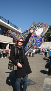 Eva and the orca statue