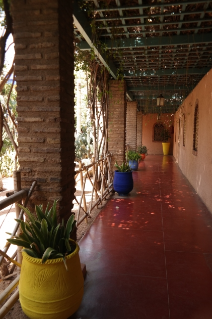 A calming covered walkway