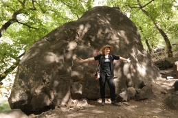 Me and a big rock